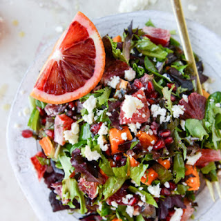 Winter Chopped Salad with Roasted Sweet Potato and Blood Orange Vinaigrette