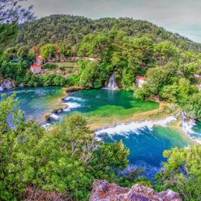 Krka by Dominic Jacob - Landscapes Waterscapes ( green, waterfall, croatia, krka, lake,  )