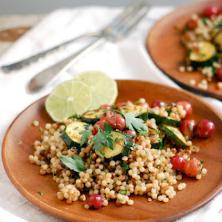 Toasted Israeli Couscous with Zucchini and Grapes