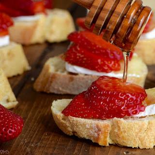 Honey, Strawberry & Brie Bruschetta