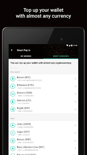Bitcoin Gold Wallet by Freewallet screenshot 12