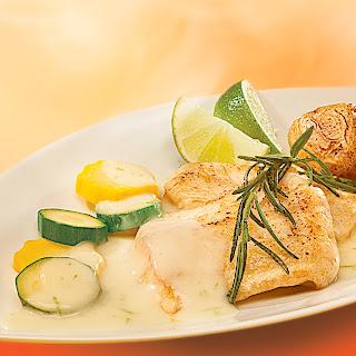 Rosmarin-Limetten-Sauce z. B. zu gebratenem Fischfilet