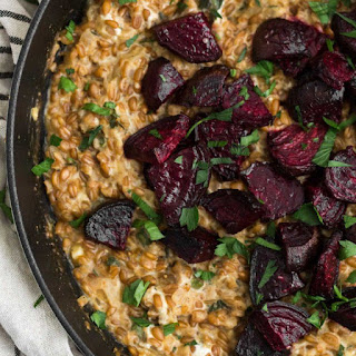 Cracked Spelt Risotto with Roasted Beets Recipe