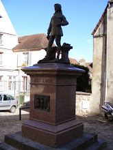 Photo: This statue of the town's most famous son (as a young man) sits on the church square.