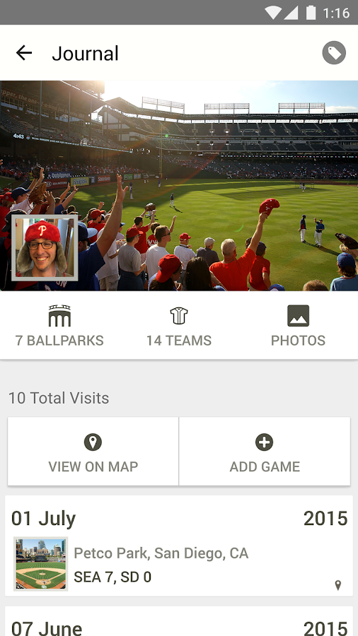 MLB.com Ballpark- screenshot