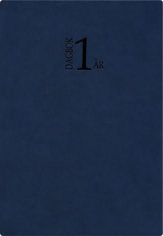 1-årsdagbok konstläder  blå