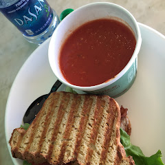 BLT on paleo bread (YUM) and tomato soup