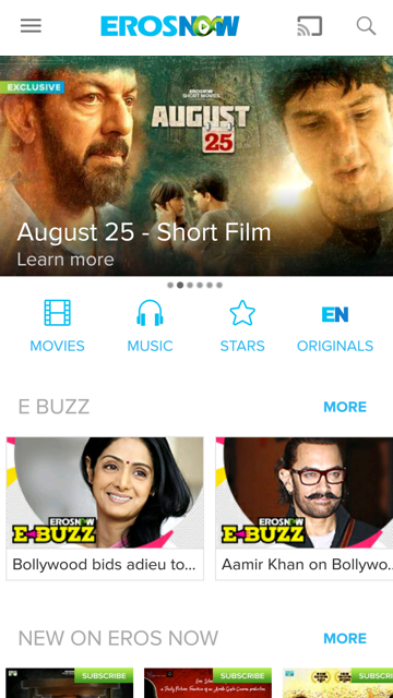 Eros Now: Best of Bollywood movies and stars- screenshot