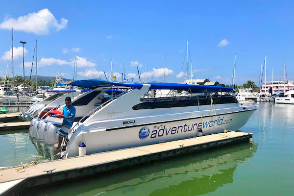 Depart by speed boat from Phuket Yacht Haven Marina