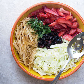 Homemade Strawberry-Apple Coleslaw {No Mayo} Recipe