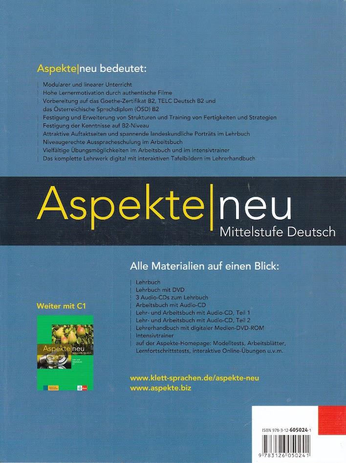 Klett Aspekte Neu B2 Lehrbuch Mit Dvd Mittelstufe Deutsch Learning
