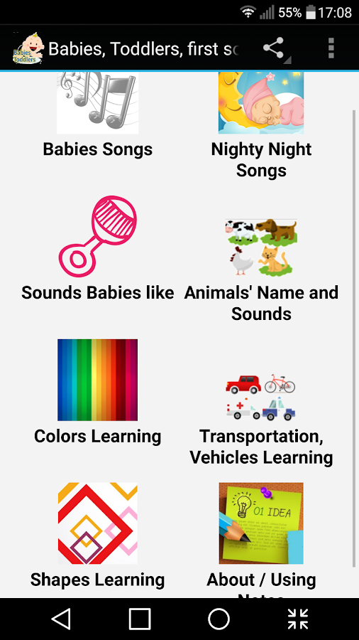 Babies & Toddlers first sounds- screenshot
