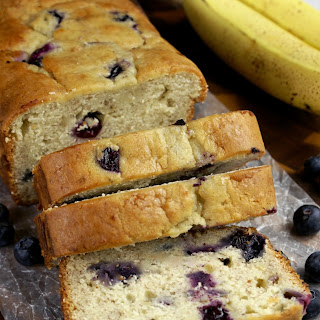 Banana-Blueberry Cream Cheese Bread