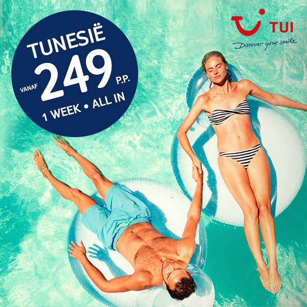 Vertrek voor een spotprijs naar Tunesië!