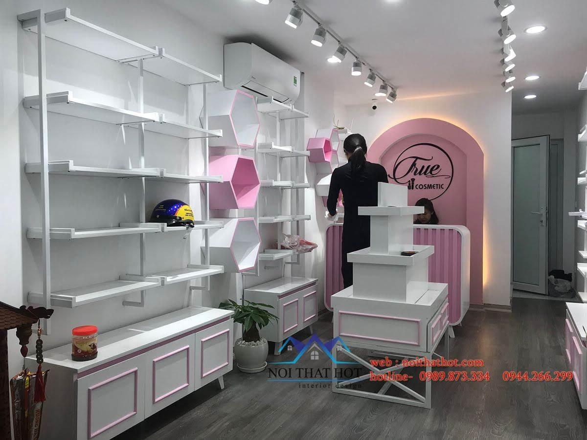 thiết kế shop mỹ phẩm nhỏ true 9
