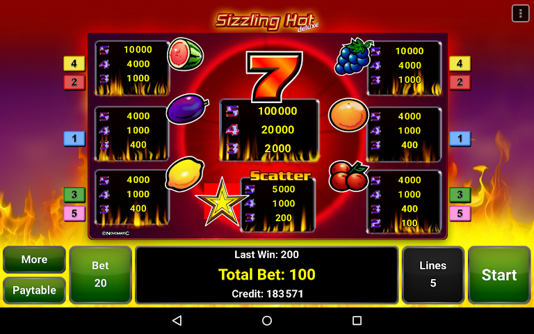 android Sizzling Hot™ Deluxe Slot Screenshot 8