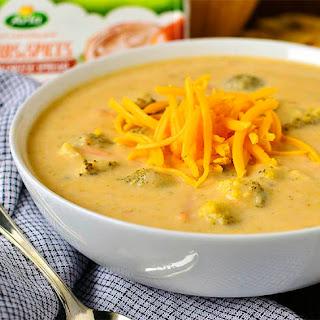 Crock Pot Broccoli-Cheddar Potato Soup.