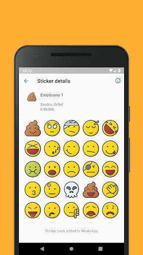 Emoticons Sticker Pack for WhatsApp 0.2.10 screenshots 2