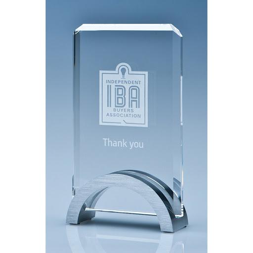 Flat Jade Glass Rectangle Award