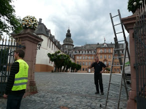 Photo: preparations in the Castle Court