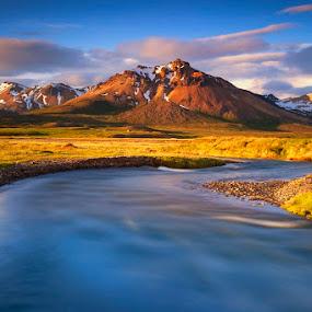 Icelandic  valley by Boris Michaliček - Landscapes Mountains & Hills