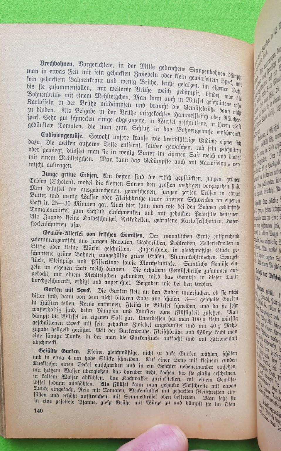 Eugen Bechtel, Nahrhaft, schmackhaft kochen - auch im Krieg!, 1940 - Hausmannskost