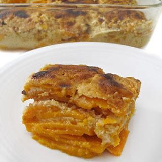 Skinny Scalloped Sweet Potato Casserole.