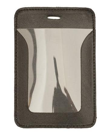 Plastficka vertikal, 69x86 mm, läderficka