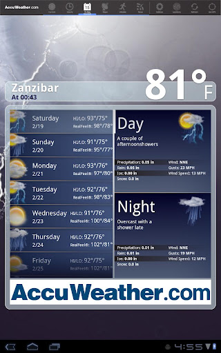 AccuWeather for Sony Tablet S screenshot 2