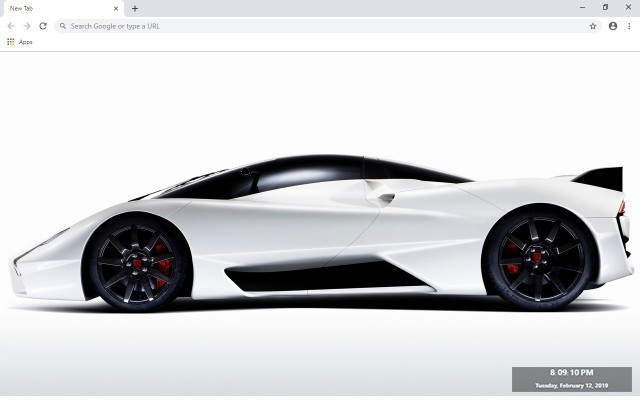 SSC Tuatara New Tab & Wallpapers Collection