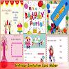 Créateur de carte d'invitation d'anniversaire APK