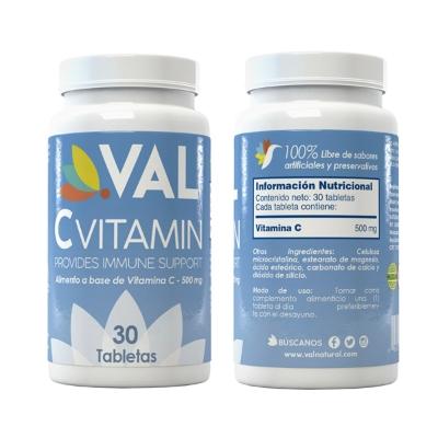 vitamina c val 500 mg 30 tabletas
