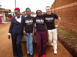Photo: Three School teachers from Gatina-Pesa comming to support Kangemi-Pesa