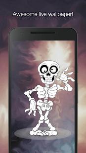 Funny skeleton live wallpaper - náhled