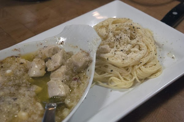 Sprinkle a bit of Parmesan over the top, and serve with some fresh pasta....