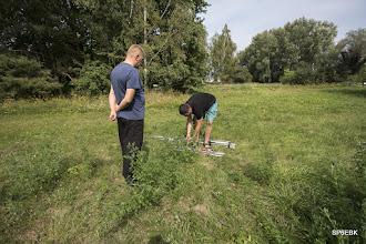 Photo: Jakub SQ6NEJ rozpoczyna montaż wertykalnej anteny typu GP7.