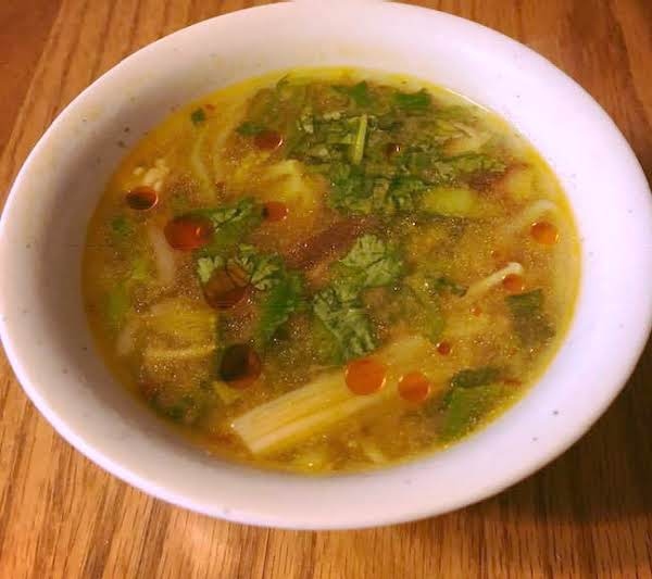 Miso Chicken & Veggie Soup Recipe