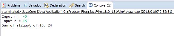 Java - Tính tổng tất các ước số của số nguyên n