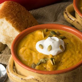 Creamy Pumpkin and Acorn Squash Soup