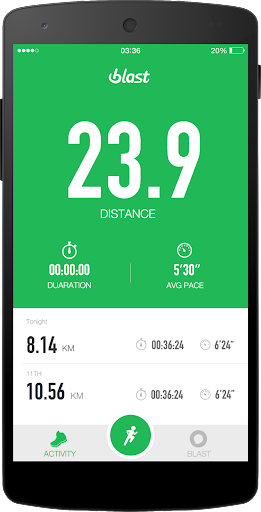 Run with Blast-GPS Run tracker