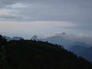 朝の槍ヶ岳や穂高連峰