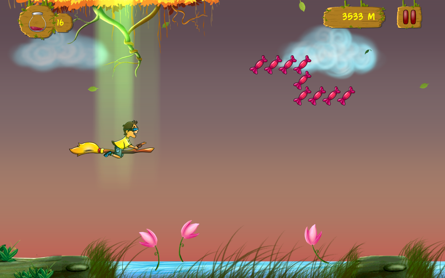 Broom Stick Run- screenshot