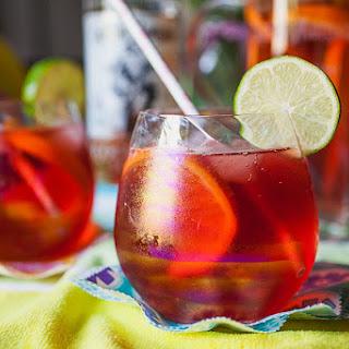 Cherry Coconut Key Lime Fizz Cocktail