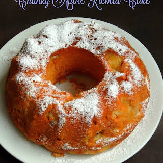 Chunky Apple Ricotta Cake.