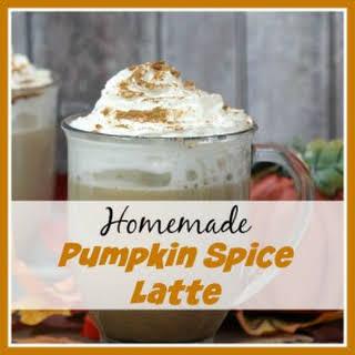 Homemade Pumpkin Spice Latte.