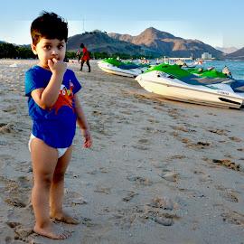Waiting for Dad by Nadeem M Siddiqui - Babies & Children Children Candids