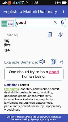 Download Maithili <> English Dictionary Google Play