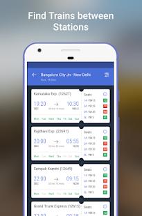 Indian Rail IRCTC PNR, Train Running Status Info - náhled