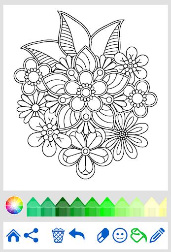 Download Flowers Mandala Coloring Book For PC