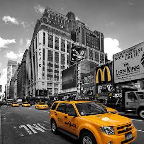 Yellow by Jean Photo-Vigneault - City,  Street & Park  Street Scenes